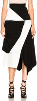 J.W.Anderson Contrast Asymmetric Skirt in Black,White.