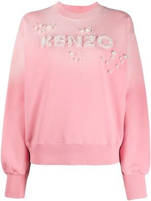 Kenzo Embellished Logo Sweatshirt