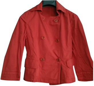 Henry Cotton Red Cotton Jacket for Women