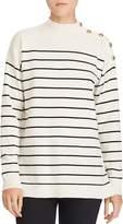 Lauren Ralph Lauren Cashmere Stripe Mock Neck Sweater - 100% Exclusive