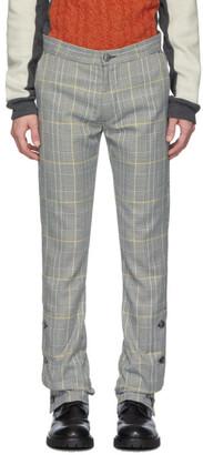 Woolmark Daniel W. Fletcher Grey Check Split Hem Trousers