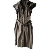 BCBGMAXAZRIA Khaki Cotton Dress