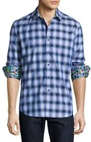 Robert Graham Aeronautics Geo-Print Sport Shirt, Blue