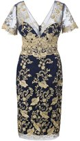 Marchesa lace inserts dress - women - Nylon - 14
