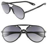 Givenchy Men's 57Mm Aviator Sunglasses - Summit Black
