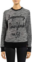 Superdry NEW Embroidered Cut & Sew Crew Black