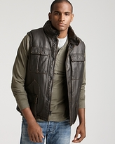 Levi's Faux Leather Puffer Vest with Sherpa Lining
