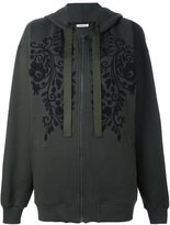 P.A.R.O.S.H. embroidered florals zip up hoodie