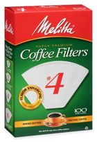 Melitta 100-Count No. 4 Coffee Filters