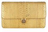 Alexander McQueen Metallic Python Heart Clutch Bag