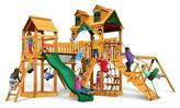 Gorilla Playsets Malibu Pioneer Peak Swing Set with Amber