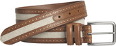 Johnston & Murphy Linen Inlay Belt