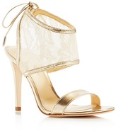 Ivanka Trump Daza Ankle Wrap High Heel Sandals
