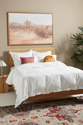 Anthropologie Organic Spa Sateen Duvet Set By in White Size Twin Set