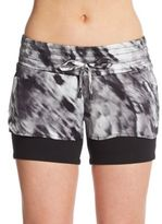 Blanc Noir Printed Jog Shorts