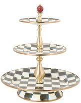 Mackenzie Childs Courtly Check Three-Tier Sweet Stand
