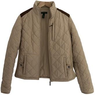 Lauren Ralph Lauren Beige Leather Coat for Women