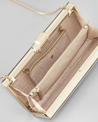 Kate Spade Road Trip License Plate Box Clutch Bag