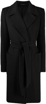 Tagliatore Tied-Waist Wool Coat