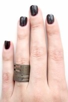 Luv Aj Tall Cut-Out Ring in Brass Ox
