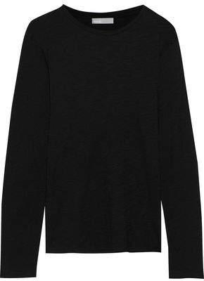Vince Melange Pima Cotton-jersey Top