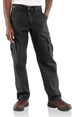 Carhartt Big Tall Flame-Resistant Canvas Cargo Pants (Dark Navy) Men's Casual Pants