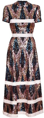 Jiri Kalfar Sequin Dress With High Neck