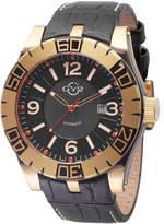 Gv2 Men's Automatic-Self-Wind La Luna Black Leather Strap Watch