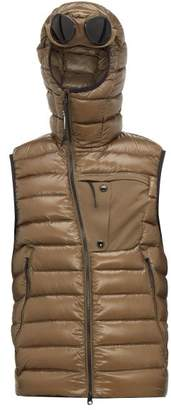 C.P. Company D.d. Shell Quilted Goggle Gilet - Mens - Khaki