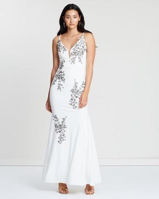 Montique Luisa Applique Gown