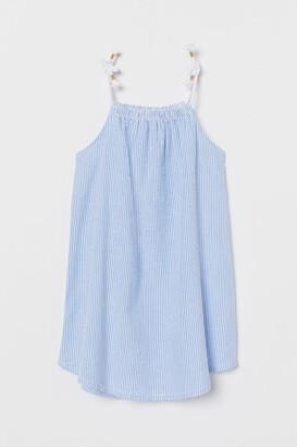 H&M Seersucker Dress - Blue