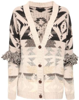 Max Mara Wool Knit Jacquard Cardigan