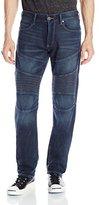 True Religion Men's Geno Relaxed Slim Fit Moto Jean In