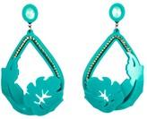 Tropical Leaf Earring - Green