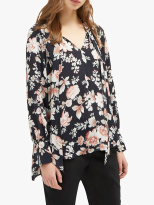 French Connection Aletta Blouse, Black/Multi