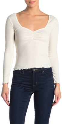 Abound Long Sleeve Front Cinched Top