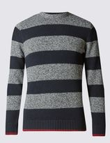 Marks and Spencer Pure Cotton Block Striped Jumper
