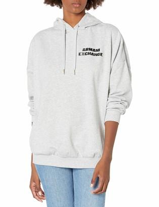 Armani Exchange Women's Fleece Hooded Sweatshirt
