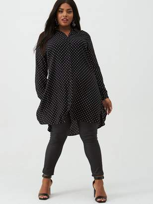 Junarose Curve Nelly Spot Tunic - Black/White