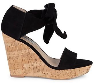 Saks Fifth Avenue Mckenna Cork Suede Platform Wedge Sandals