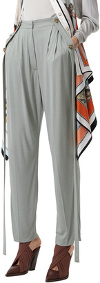 Burberry High-Rise Jersey Trousers