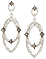 Armenta New World Midnight Open Crivelli Earrings with Diamonds