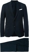 Neil Barrett pinstriped suit - men - Cotton/Polyester/Spandex/Elastane/Virgin Wool - 50