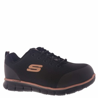 Skechers Women's Lace Up Athletic Safety Toe Industrial Shoe