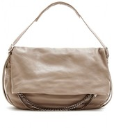 BIKER LEATHER HOBO WITH CHAIN ACCENTS