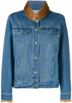 Simonetta Ravizza back detail jacket - women - Cotton/Mink Fur - M