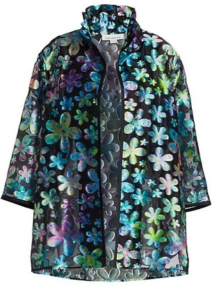 Caroline Rose, Plus Size Fresh & Flirty Flower Power Jacket