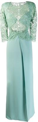 Elisabetta Franchi lace panel flare gown
