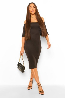 boohoo Raglan Angel Sleeve Midi Dress