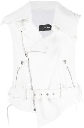 Manokhi Sleeveless Leather Vest